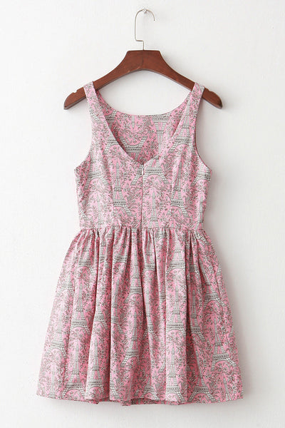 【Back in Stock】Eiffel Tower Floral Paris Cute Retro Sundress