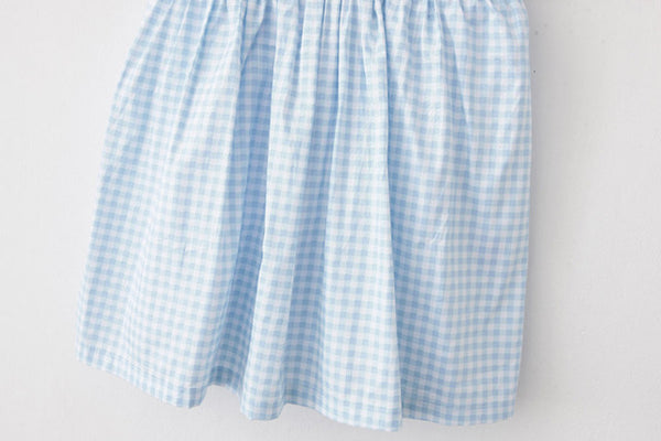 Sky Blue Gingham Cute Retro Sundress