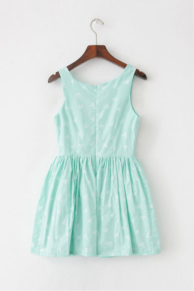 【Almost Gone】Multi-Triangle Cute Retro Sundress