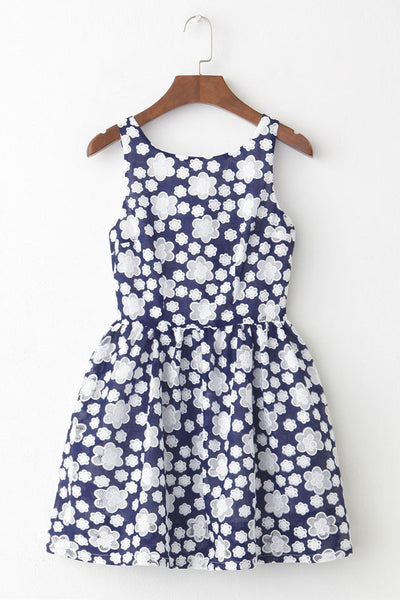 Floral Lace Cute Retro Sundress