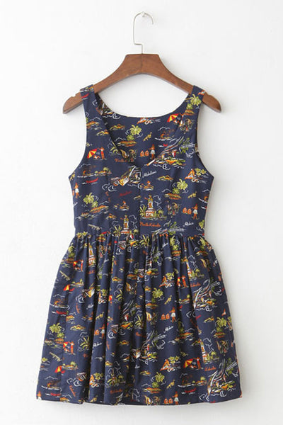 Hawaii Sight Cute Retro Sundress