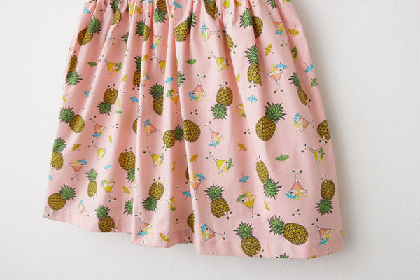 Pineapple Cocktail Cute Retro Sundress