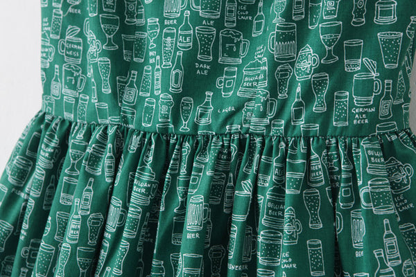 Beer Bottles Green Cute Retro Sundress