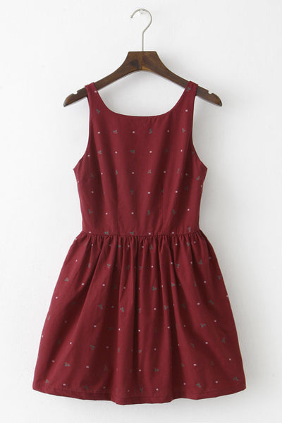 Mistletoe Snowflake Cute Retro Sundress