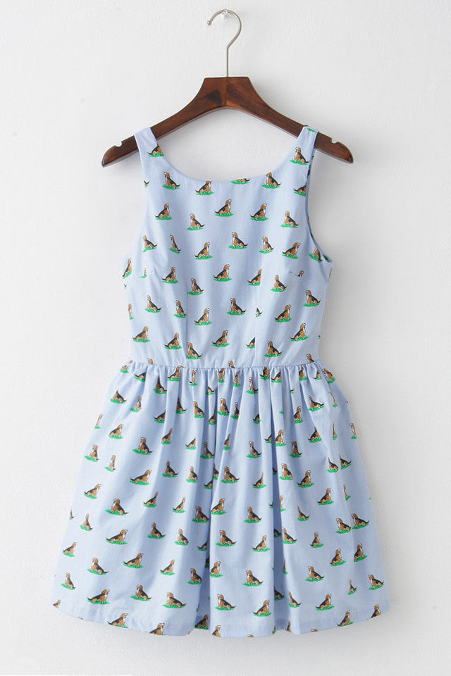 Puppy Puppy Cute Retro Sundress