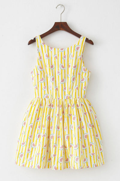 Stripe Watermelon Cute Retro Sundress