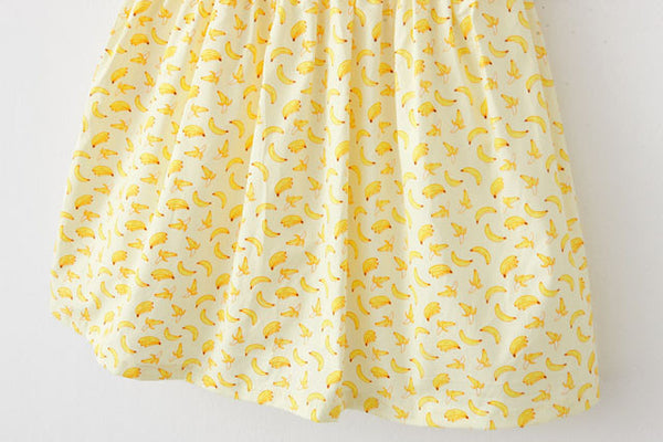 Yellow Banana Cute Retro Sundress