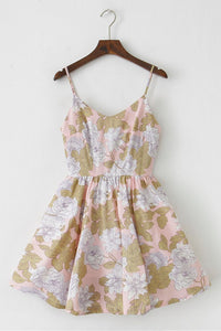 Vintage Floral Strap Cute Retro Sundress