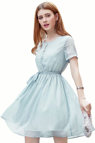 Tie Waist Mint Dress