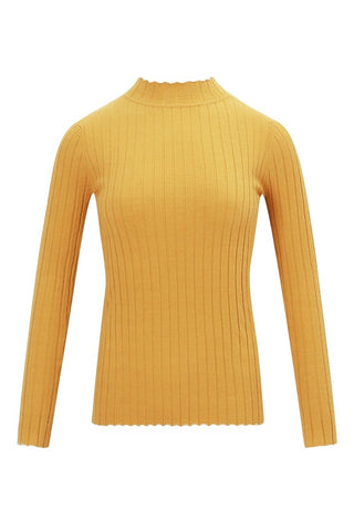 5 Colors Mock Turtleneck Knit Top