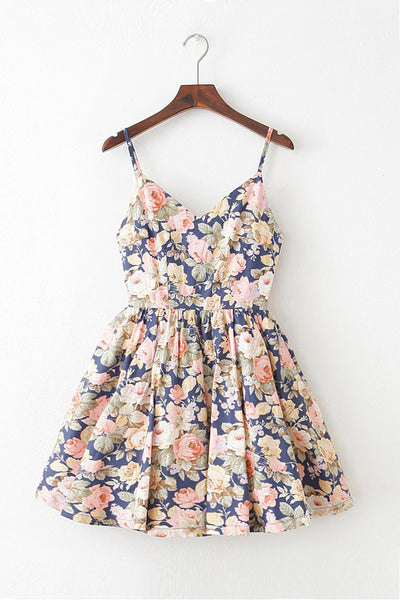 【Back in Stock】May Peony Strap Cute Retro Sundress