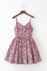 Classic Pattern Strap Cute Retro Sundress