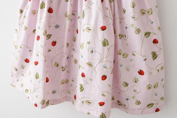 Strawberry Pink Cute Retro Sundress