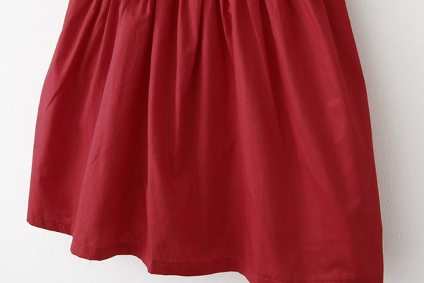【Back in Stock】Little Red Dress Cute Retro Sundress