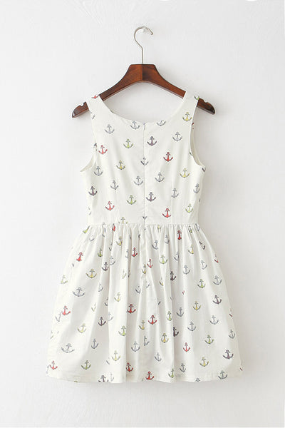 Colorful Anchor Cute Retro Sundress