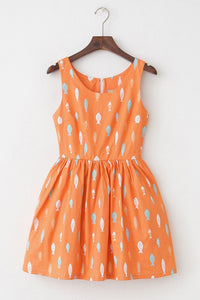 【Back in Stock】Playful Fish Print Cute Retro Sundress