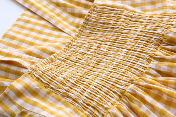 Yellow Gingham Tank Cute Retro Sundress
