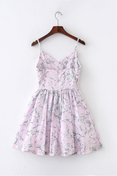 Bow Tie Strap Cute Retro Sundress
