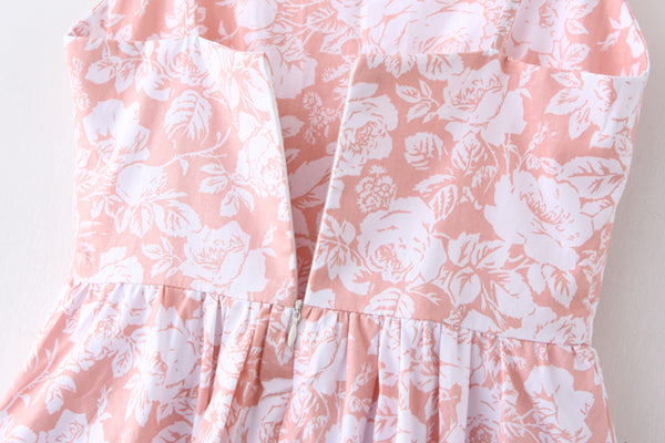 Peony Sketch Strap Cute Retro Sundress