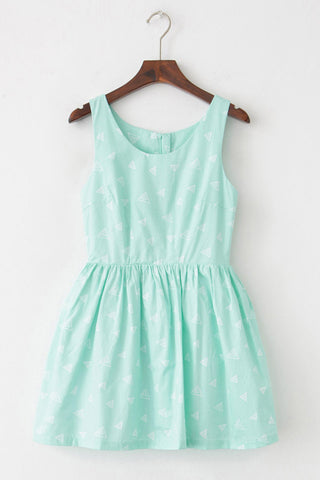 Multi-Triangle Cute Retro Sundress