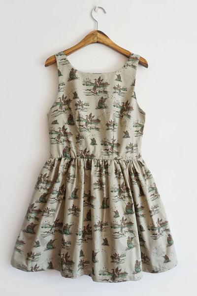 Duck Hunting Cute Retro Sundress