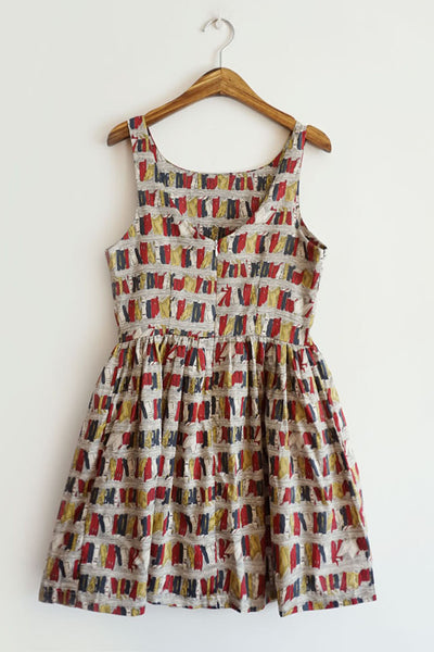 Retro Book Shelf Cute Retro Sundress