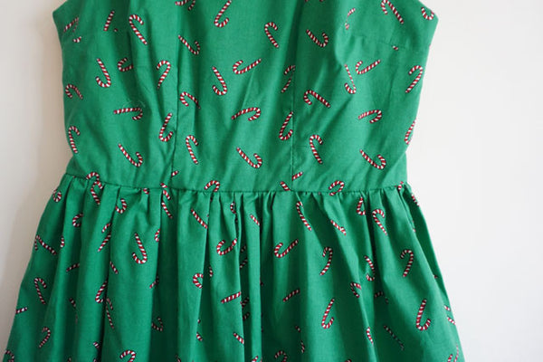 Candy Cane Cute Retro Sundress