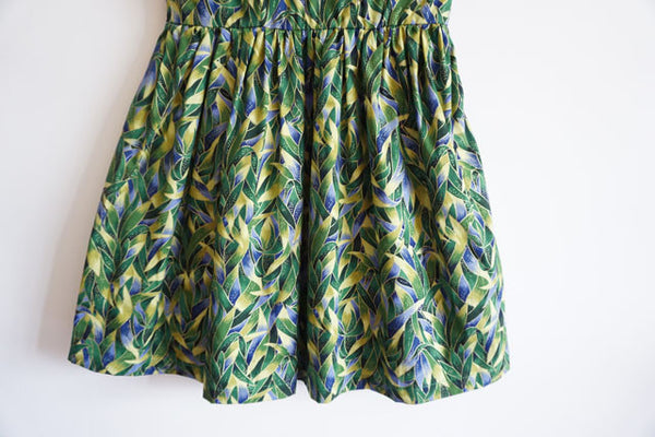 Hand Painting Leaves Cute Retro Sundress