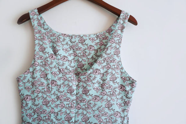 Vintage Rose Painting Cute Retro Sundress