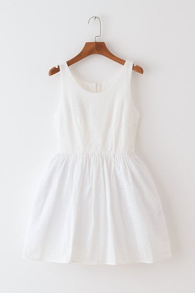 Floral Eyelet Cute Retro Sundress