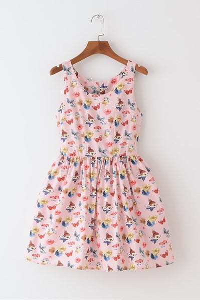 Bunny Deer Cute Retro Sundress