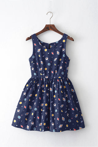 Space Travel Cute Retro Sundress