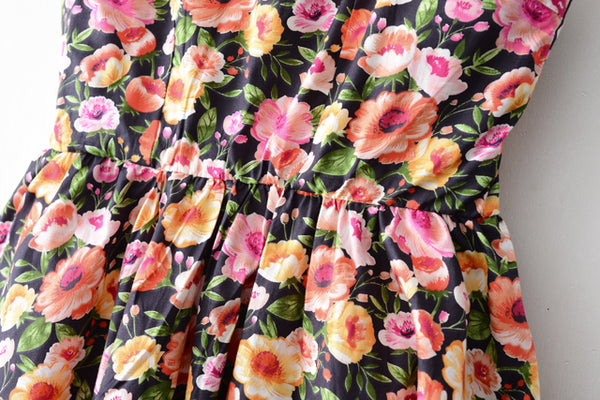 Blossom Black Strap Cute Retro Sundress