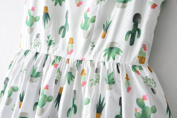 Cactus Print Cute Retro Sundress