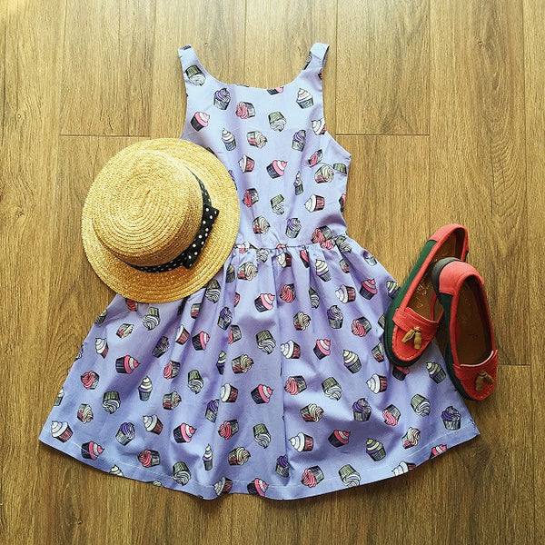 Cupcake Lover Cute Retro Sundress