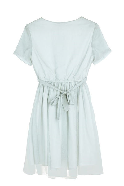 【Almost Gone】Tie Waist Mint Dress