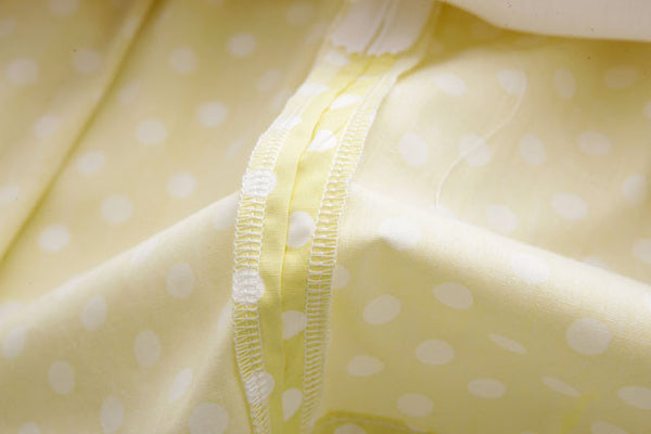 Yellow Polka Dots Cute Retro Sundress