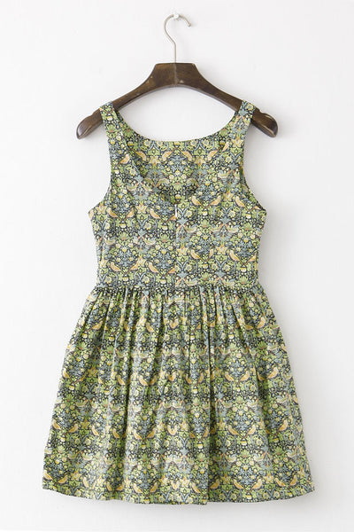 Golden Bird Cute Retro Sundress