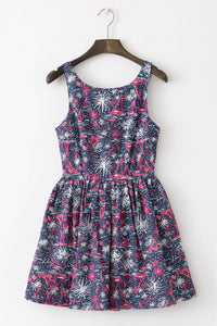 Ship Firework Cute Retro Sundress