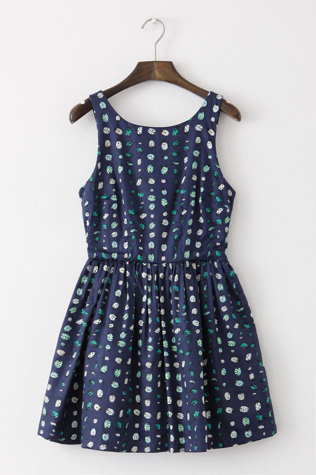 Ladybird Print Cute Retro Sundress