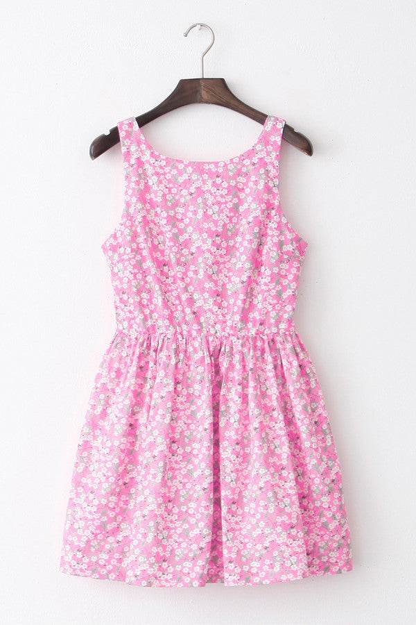 Plum Blossom Cute Retro Sundress