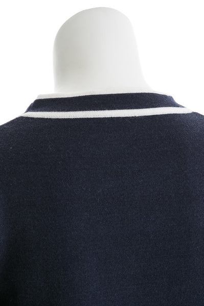 Tie Neck Crop Sweater