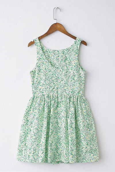 Little White Flowers Cute Retro Sundress