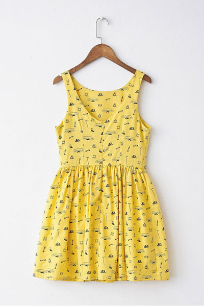 Retro Sketch Cute Retro Sundress