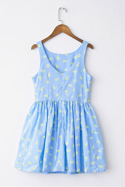 Little Yellow Flower Cute Retro Sundress