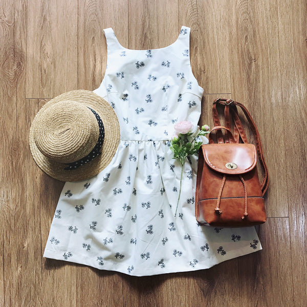【Almost Gone】Classic Lady Bicycle Cute Retro Sundress