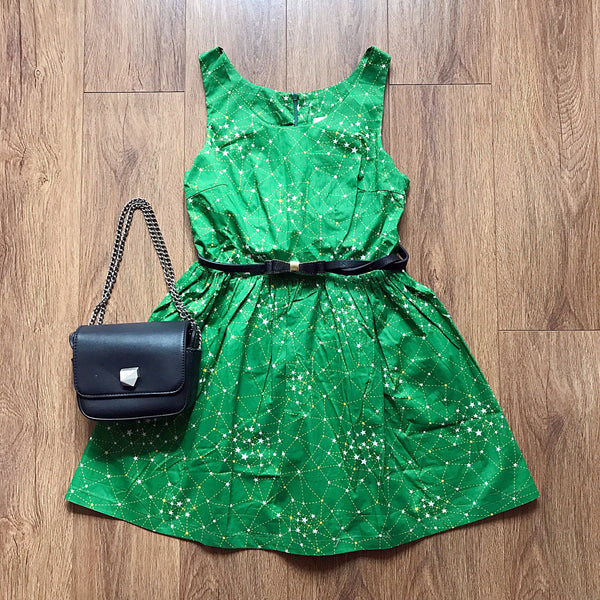 【Back in Stock】Galaxy Green Cute Retro Sundress