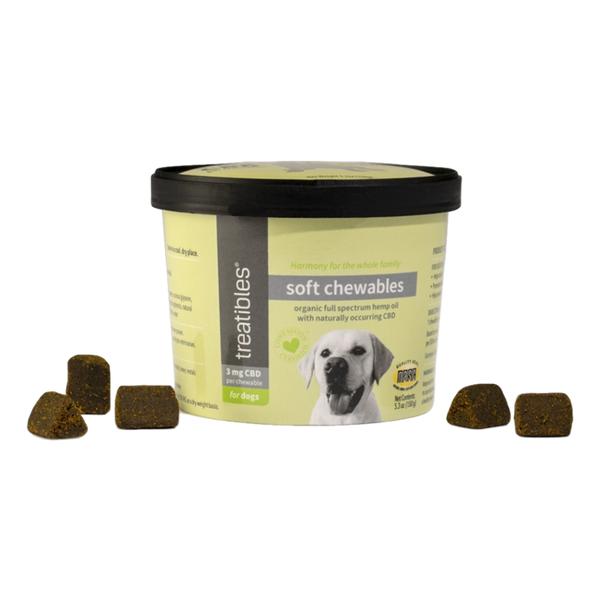 3 mg Treatibles® | CBD Soft CBD Chews For Dogs (60 Ct.)