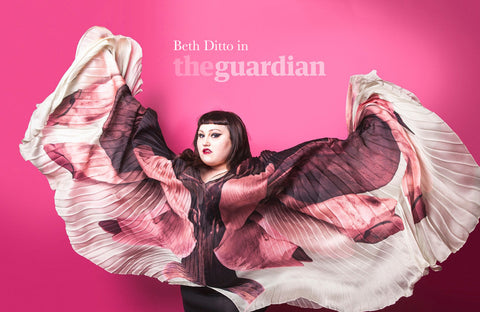Beth Ditto wears wings by Innangelo for the Guardian