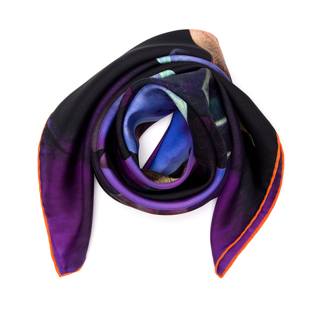 SILK SCARF PURPLE RAIN